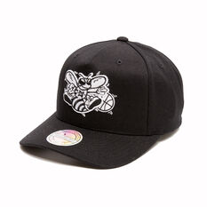 The Mitchell & Ness Charlotte Hornets BNW Logo 110 Snapback Cap, , rebel_hi-res