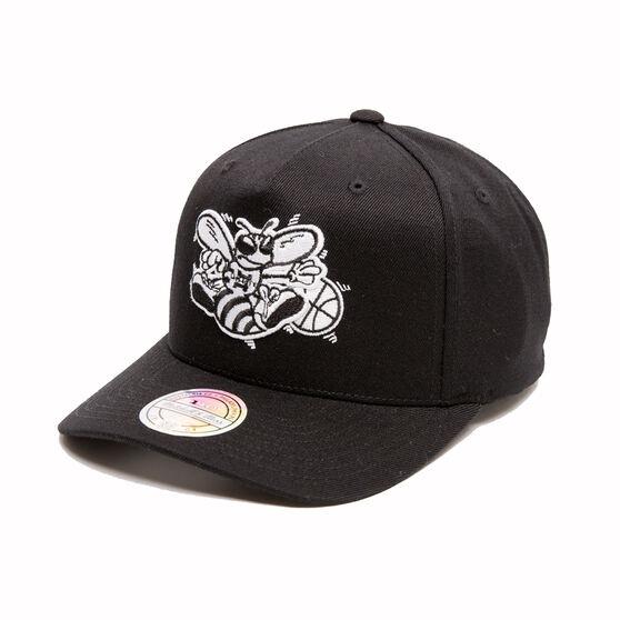The Mitchell & Ness Charlotte Hornets BNW Logo 110 Snapback Cap, , rebel_hi-res