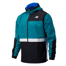New Balance Mens R.W.T Lightweight Woven Jacket Teal S, Teal, rebel_hi-res