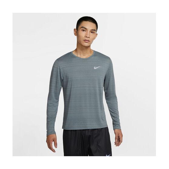 Nike Mens Dri-FIT Miler Long Sleeve Training Tee, Grey, rebel_hi-res