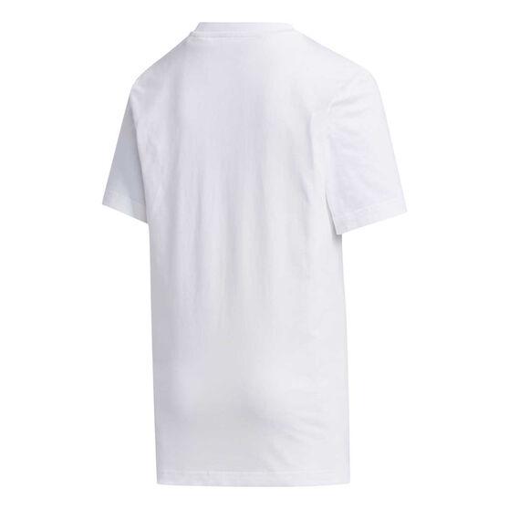 adidas Boys Box Tee White 10, White, rebel_hi-res