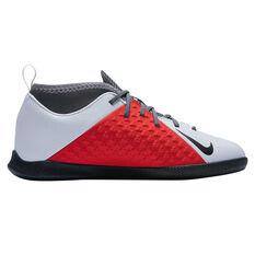 Nike Phantom Visionx Club Junior Indoor Soccer Shoes Grey / Black US 1, Grey / Black, rebel_hi-res