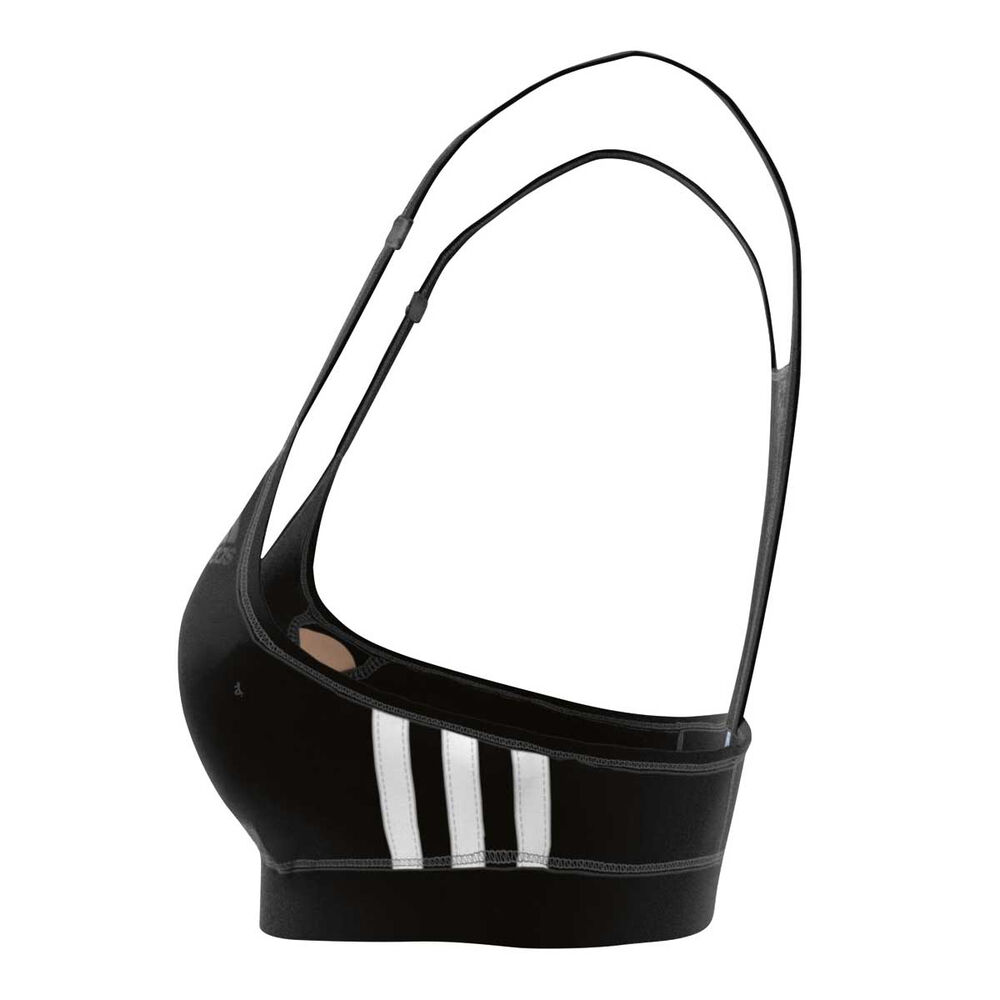 2a0e206d5c849 adidas Womens Strappy Sports Bra Black   White XS Adult
