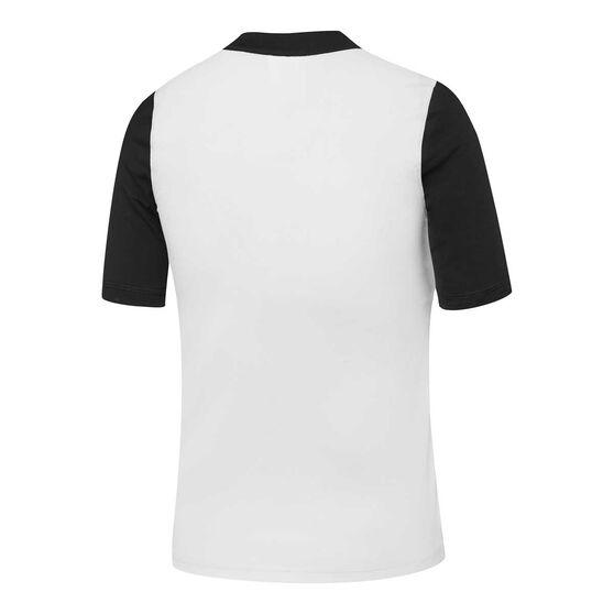 Speedo Boys Icon Logo Rash Vest, White/Black, rebel_hi-res