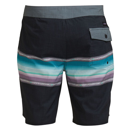 Quicksilver Mens Surfsilk Faded 19 inch Board Shorts, Black, rebel_hi-res