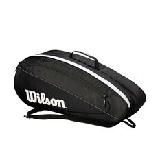 Wilson Federer Team Racquet Bag Black / White, Black / White, rebel_hi-res