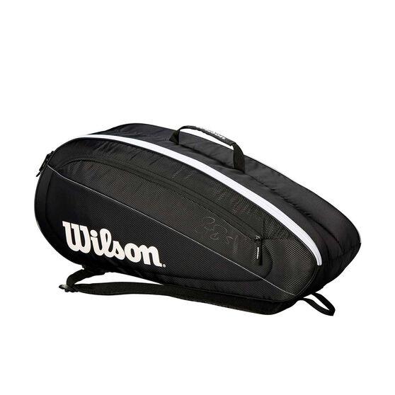 Wilson Federer Team Racquet Bag Black / White, Black / White, rebel_hi-res