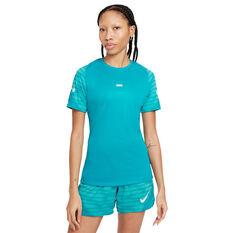 Nike Womens Dri-FIT Strike Short Sleeve Soccer Tee Blue XS, Blue, rebel_hi-res
