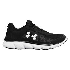 Under Armour Mico G Assert 7 Womens Running Shoes Black / White US 6, Black / White, rebel_hi-res