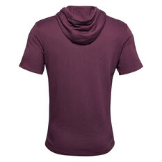 Under Armour Mens Project Rock Bull French Terry Sleeveless Hoodie Maroon S, Maroon, rebel_hi-res