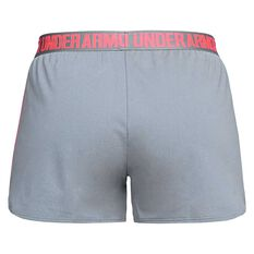 Under Armour Womens Play Up Shorts Grey / Pink XS Adult, Grey / Pink, rebel_hi-res