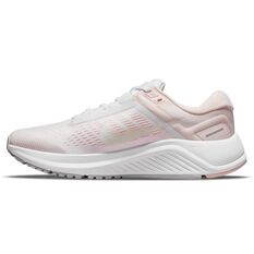 Nike Air Zoom Structure 24 Womens Running Shoes White/Green US 6, White/Green, rebel_hi-res
