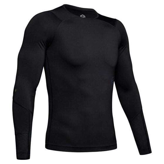 Under Armour Rush Mens Long sleeve Compression Tee, Black, rebel_hi-res