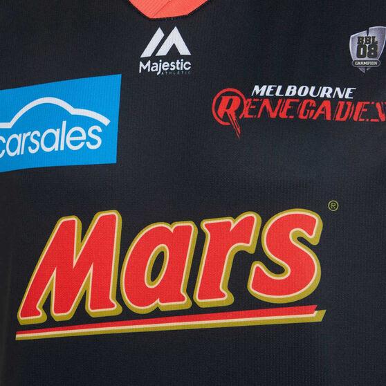 Melbourne Renegades 2019/20 Kids Neon Nights BBL Jersey Black / Red, Black / Red, rebel_hi-res