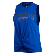 adidas Womens Graphic Tank Blue XS, Blue, rebel_hi-res