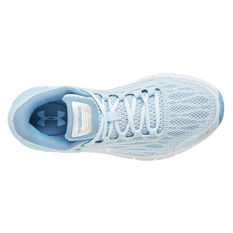 Under Armour Charged Rogue Womens Running Shoes, Blue / White, rebel_hi-res