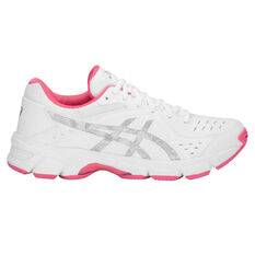 Asics Gel 195TR D Womens Training Shoes White / Silver US 6, White / Silver, rebel_hi-res