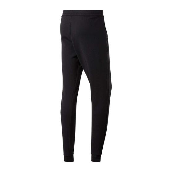 Reebok Mens Workout Ready Doubleknit Track Pants, Black, rebel_hi-res