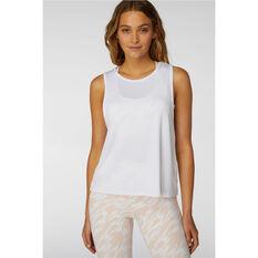 L'urv Womens New Era Tank White S, White, rebel_hi-res