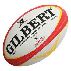 Gilbert Pathway Rugby Match Ball Blue / White 4, Blue / White, rebel_hi-res