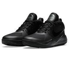 Nike Team Hustle D 9 Kids Basketball Shoes, Black, rebel_hi-res
