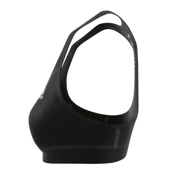 adidas Womens Tech Fit Bra Black XS Adult, Black, rebel_hi-res