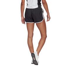 adidas Womens Marathon 20 Running Shorts Black XS, Black, rebel_hi-res