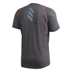 adidas Mens Runner Tee Grey S, Grey, rebel_hi-res