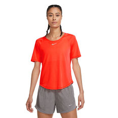 Nike Womens Icon Clash Running Tee Orange XS, Orange, rebel_hi-res
