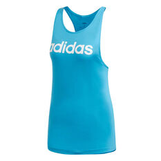 adidas Womens Essentials Linear Tank, Blue, rebel_hi-res
