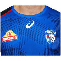 Western Bulldogs 2021 Mens Training Tee, Blue, rebel_hi-res
