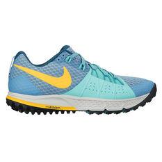 Nike Air Zoom Wildhorse 4 Womens Trail Running Shoes Blue / Orange US 6, Blue / Orange, rebel_hi-res