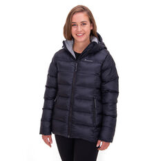 Macpac Womens Sundowner Hooded Jacket Black 8, Black, rebel_hi-res