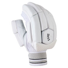Kookaburra Ghost Pro 4.0 Cricket Batting Gloves White/Grey Right Hand, White/Grey, rebel_hi-res