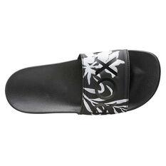 Roxy Slippy Womens Slides, Black, rebel_hi-res