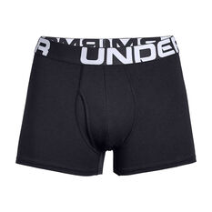 Under Armour Mens Charged Cotton 3in 3 Pack Underwear Black XS, Black, rebel_hi-res