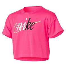 Nike Girls Sportswear Crop Tee Pink 4, Pink, rebel_hi-res