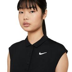 NikeCourt Womens Victory Tennis Polo, Black, rebel_hi-res