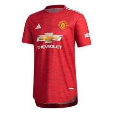 Manchester United 2020/21 Authentic Mens Home Jersey Red S, Red, rebel_hi-res