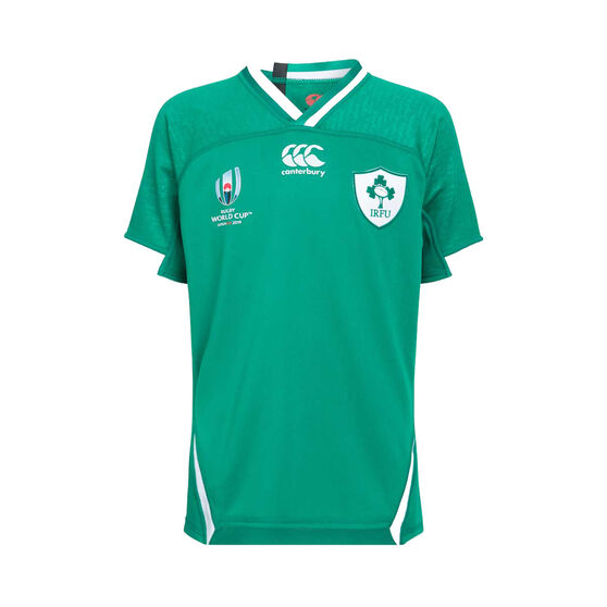 Ireland 2019 Kids Rugby World Cup Home Jersey, Green, rebel_hi-res