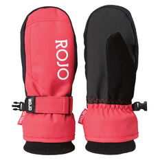Rojo Girls New Icon Mitts Pink 4, Pink, rebel_hi-res