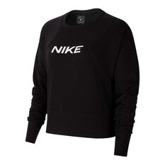 Nike Womens Dri-FIT Get Fit Sweatshirt Black XS, Black, rebel_hi-res