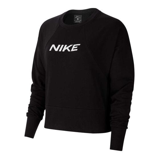 Nike Womens Dri-FIT Get Fit Sweatshirt, Black, rebel_hi-res