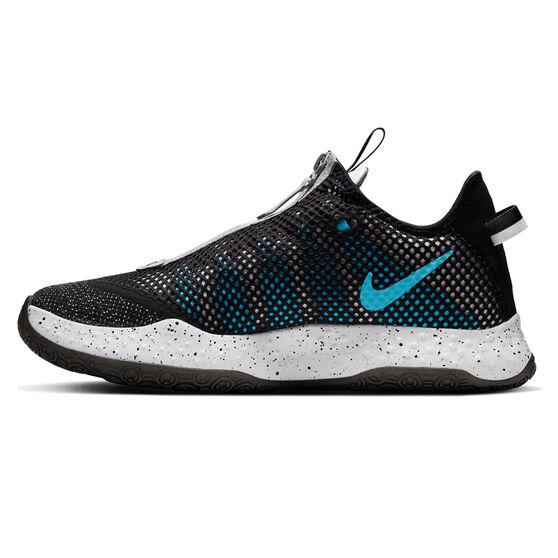 Nike PG 4 Mens Basketball Shoes, Black/White, rebel_hi-res