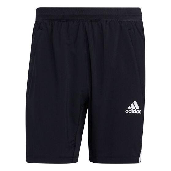 adidas Mens AEROREADY 3-Stripes Shorts, Black, rebel_hi-res