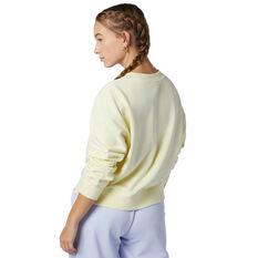 New Balance Womens Athletics Intelligent Choice Sweatshirt Yellow XS, Yellow, rebel_hi-res