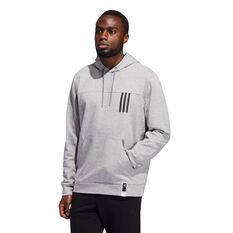adidas Mens Post Game Light Hoodie Grey S, Grey, rebel_hi-res