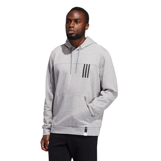 adidas Mens Post Game Light Hoodie, Grey, rebel_hi-res