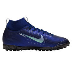 Nike Mercurial Superfly VII Academy Kids Touch and Turf Blue / Silver US 1, Blue / Silver, rebel_hi-res