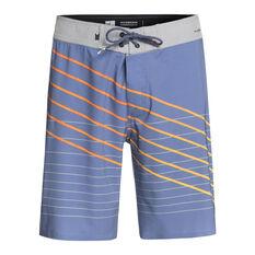 Quiksilver Mens Highline Shibori Slash 19in Boardshorts Blue 30, Blue, rebel_hi-res